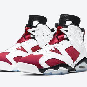 Air Jordan6 Carmine Red White Red
